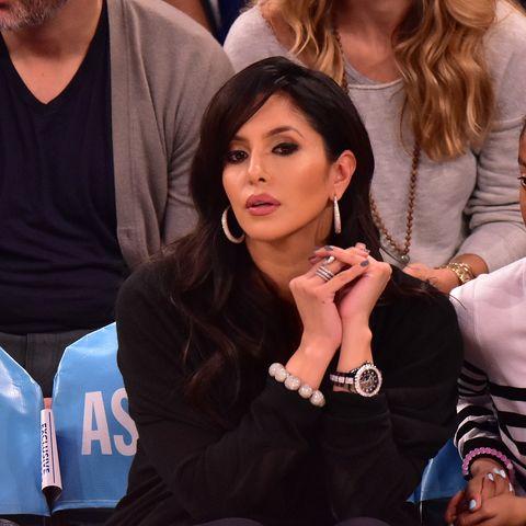 Ванесса Брайант на игре New York Knicks vs Los Angeles Lakers в Мэдисон Сквер Гарден 8 ноября 2015 года в Нью-Йорке
