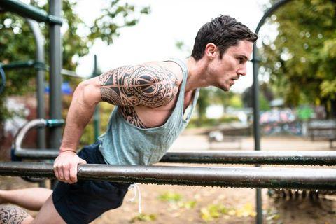 fitness man doing exercise