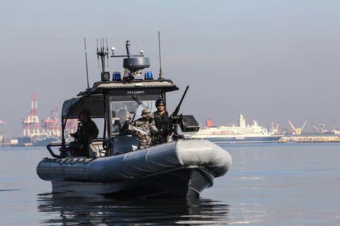 Vehicle, Boat, Watercraft, Rigid-hulled inflatable boat, Navy, Ship, Inflatable boat, Patrol boat, river, Tugboat,