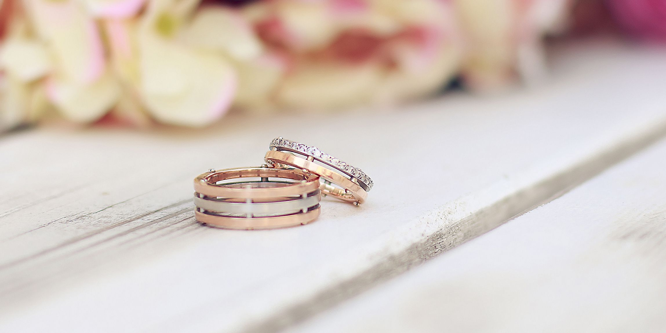 luxury under gold pink rose wedding rings of awesome alternative weddings com