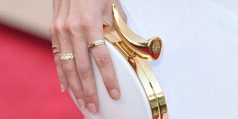 Bangle, Red, Fashion accessory, Finger, Hand, Jewellery, Footwear, Dress, Nail, Metal,