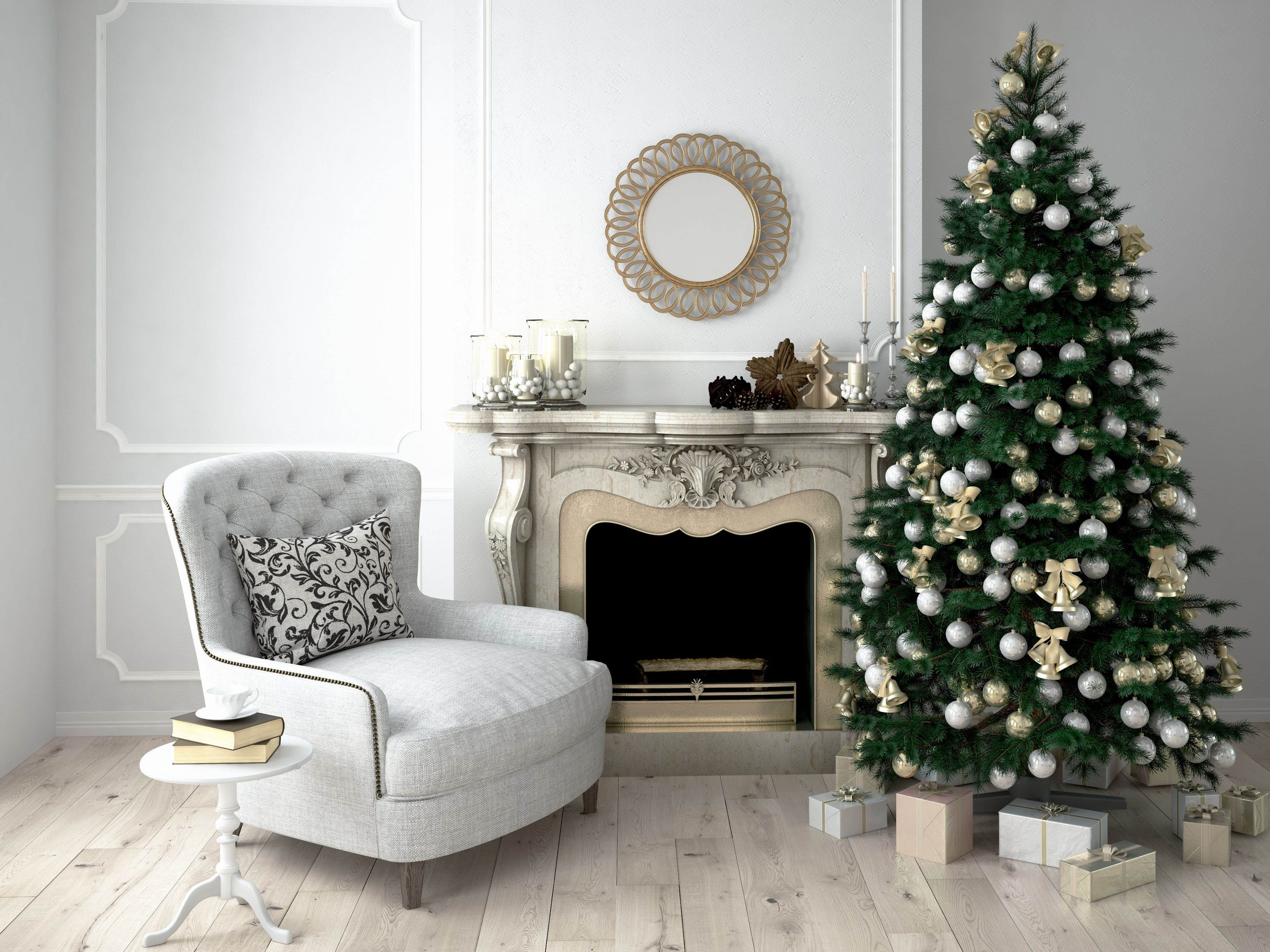 25 Stunning Christmas Living Rooms , Holiday Living Room