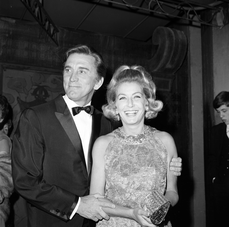 Kirk Douglas & Wife Anne Buyde...