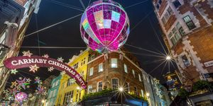 London Carnaby Street At Night Xmas 2015
