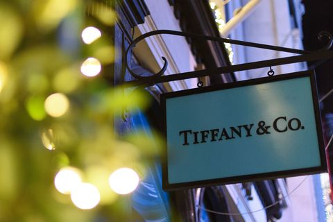 london, england   december 08 the tiffany  co store on bond street lines its windows with fairy lights as part of its christmas light display on december 8, 2015 in london, england british retailers are hoping for a rise in sales over the christmas period after novembers black friday sales failed to boost turnover photo by ben pruchniegetty images