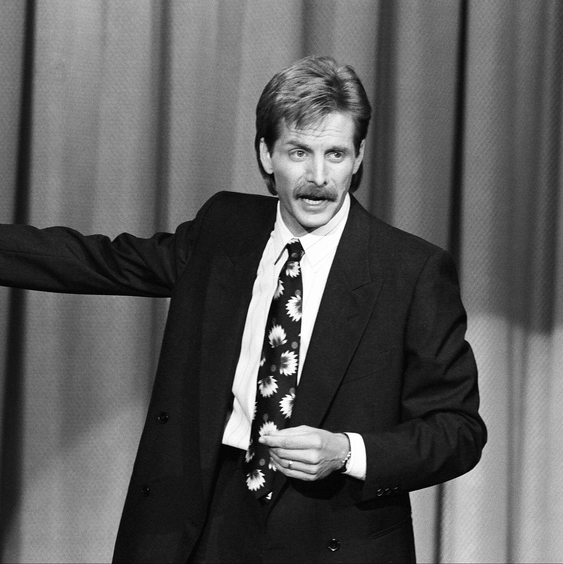 1991: Jeff Foxworthy You might be surprised to find out that Foxworthy has been rocking what's become one of the most famous mustaches in stand-up since 11th grade.
