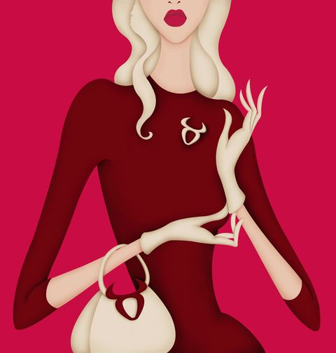 Pink, Illustration, Magenta, Fashion illustration, Finger, Dress, Fictional character, Style, Art,