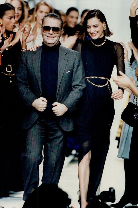 Fashion model, Fashion, Little black dress, Dress, Formal wear, Suit, Eyewear, Event, Haute couture, Fashion design,