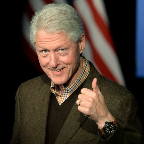 exeter, nh   january 4 former us president bill clinton speaks at exeter town hall january 4, 2016 in exeter, new hampshire bill clinton spent the day campaigning for his wife, democratic presidential candidate hillary clinton  photo by darren mccollestergetty images