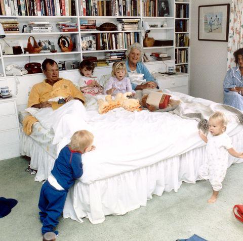 Room, Bed, Child, Furniture, Bed sheet, House, Building,