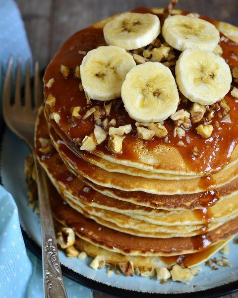 Dish, Food, Cuisine, Pancake, Ingredient, Dessert, Breakfast, Produce, Baked goods, Banana,