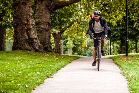 commuting in park