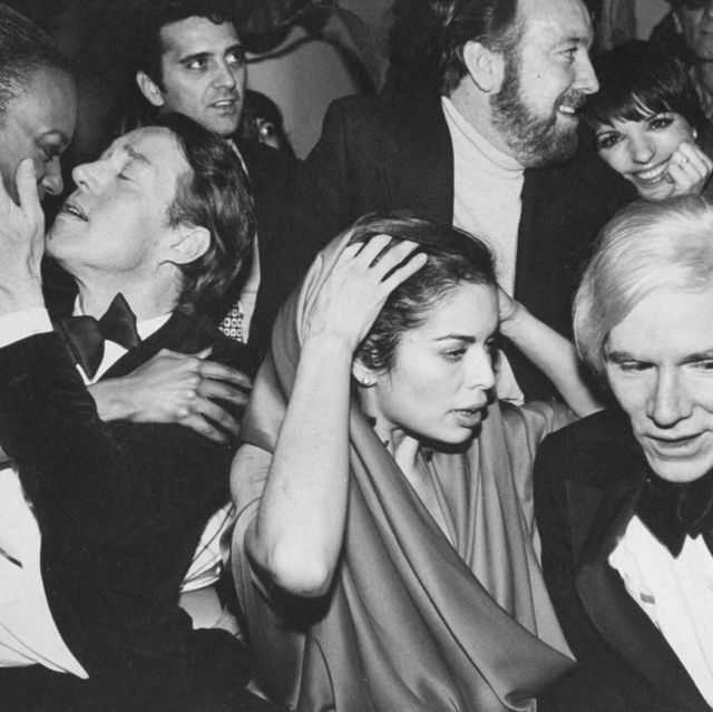 celebrities during new years eve party at studio 54 l r halston, bianca jagger, jack haley, jr bkgrd, liza minnelli bkgrd, andy warhol  photo by robin platzertwin imagesthe life images collection via getty imagesgetty images