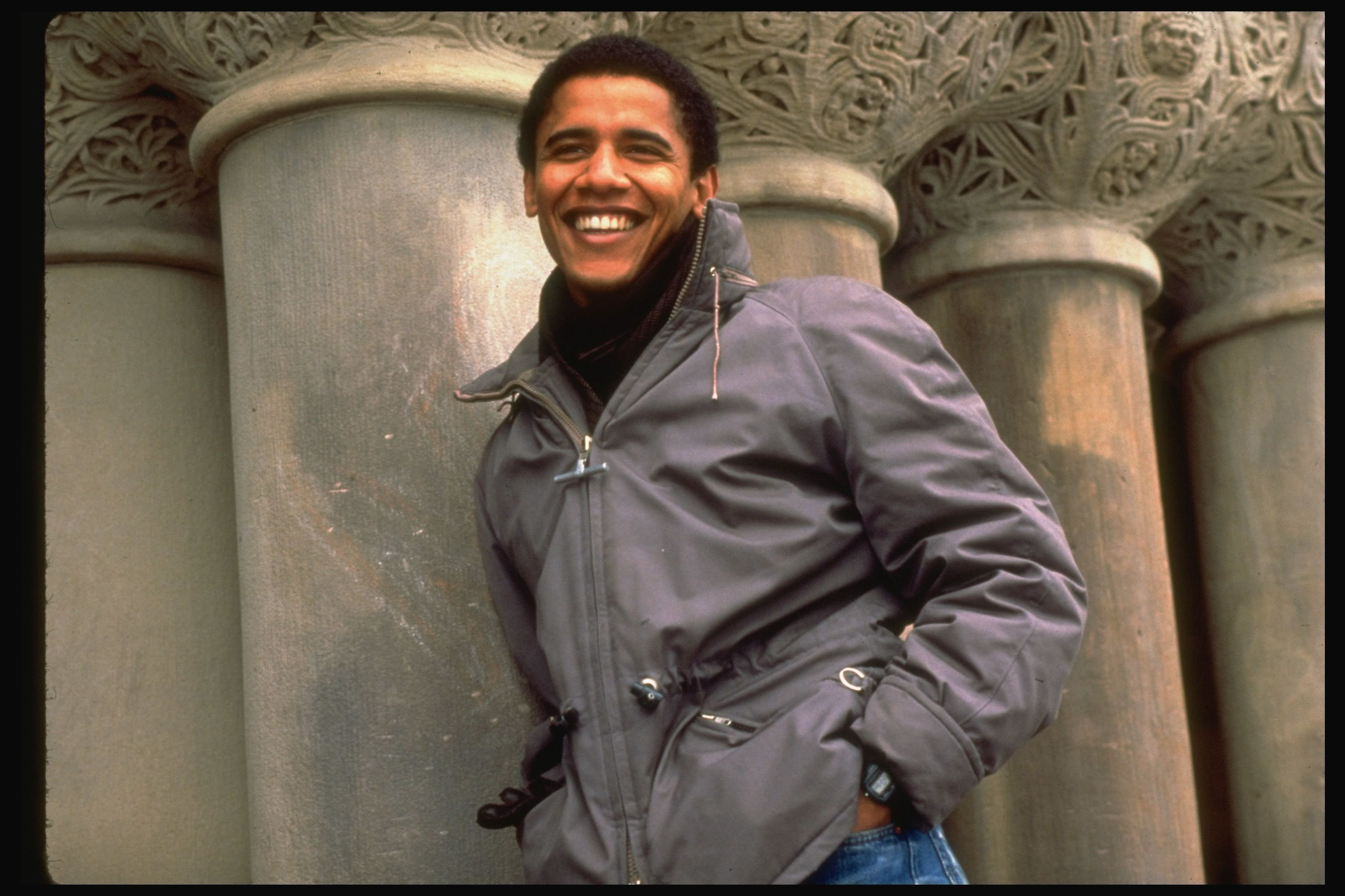 Barack Obama, after he was elected to be president of the Harvard Law Review, in 1990.