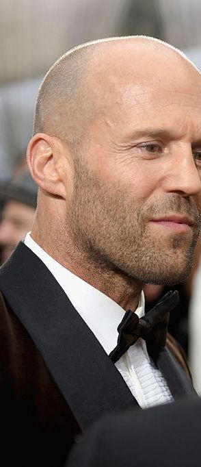 Jason Statham (head that's bare) Like Willis, Statham has been blessed with the kind of head that is never conspicuous hairless. Quite the opposite, in fact.