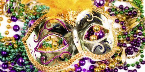 Purple, Jewellery, Fashion accessory, Mardi Gras, Violet, Festival, Carnival, Magenta, Body jewelry, Bangle,