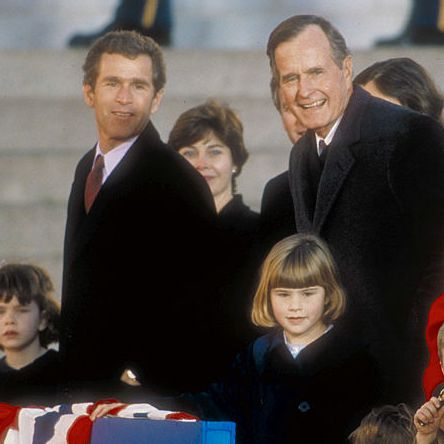 Barbara And George Bush And Family