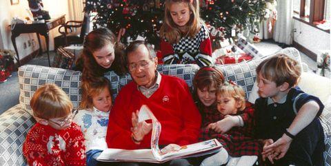 george h w bush with grandchildren