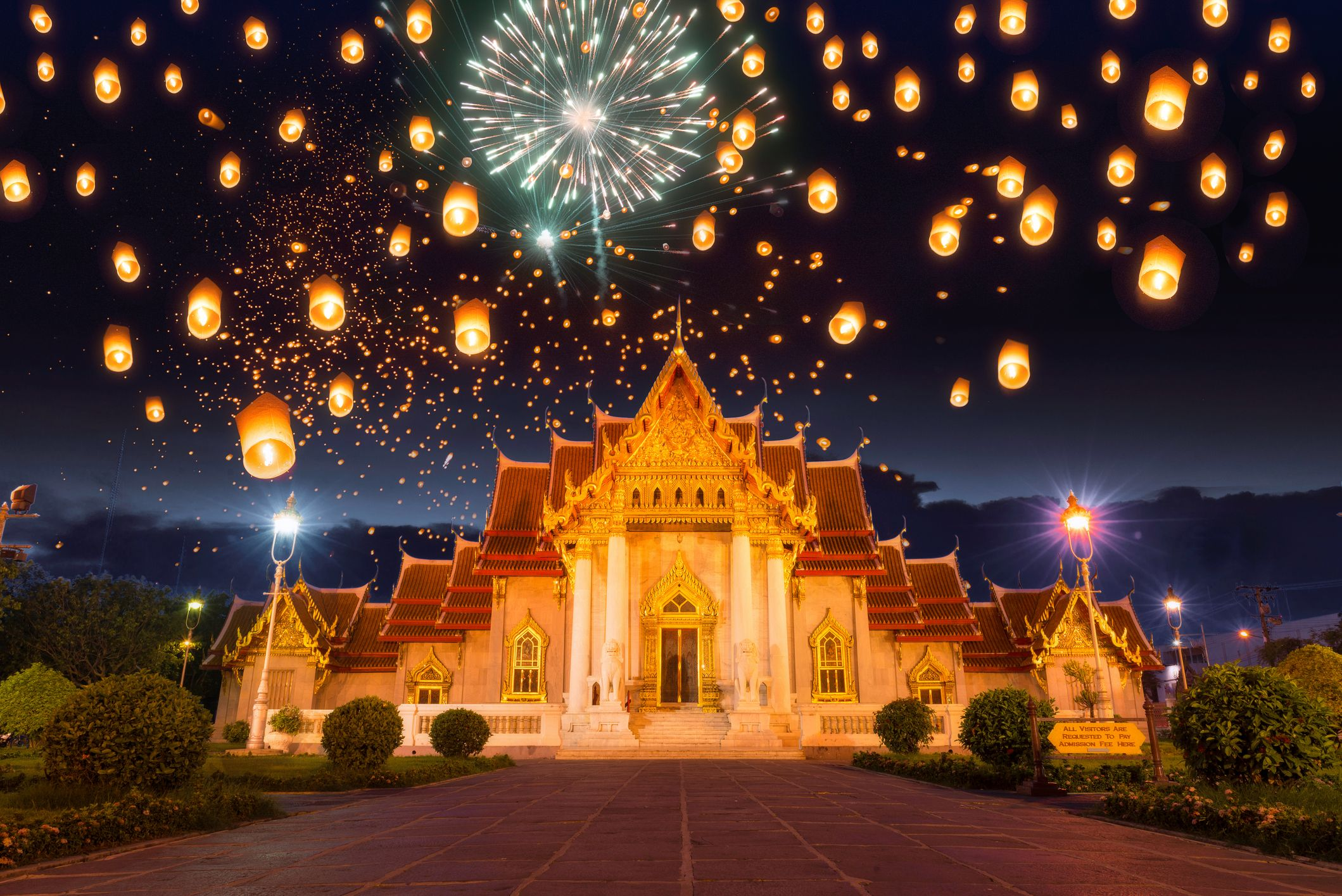 Bangkok, Thailand new years