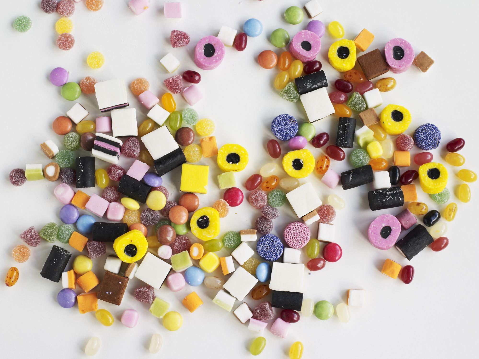 liquorice allsorts, sweets