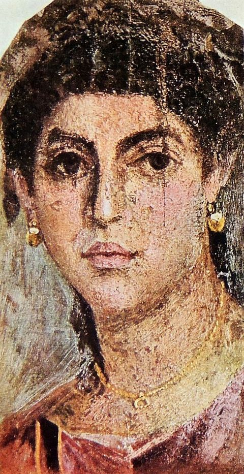 funerary portrait of an unknown roman female the portrait was discovered in egypt photo by universal history archiveuig via getty images