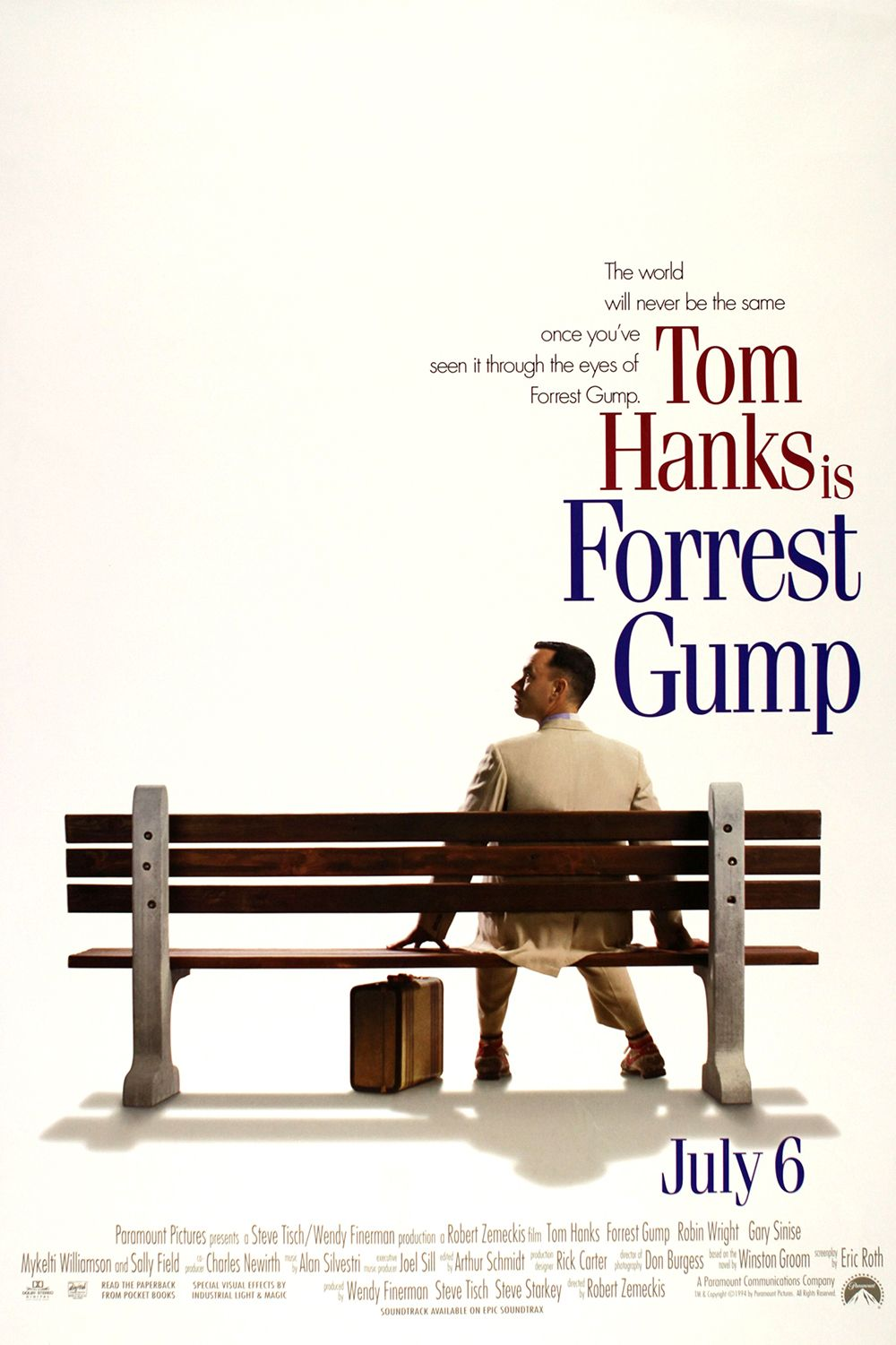 Forrest Gump (1994) This now-classic Best Picture winner takes audiences through the life of its titular character, the lovable—though slow—Forrest Gump (Tom Hanks). He runs across the country several times, meets Richard Nixon, serves in Vietnam, and teaches Elvis Presley to dance.