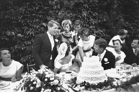 John F. Kennedy And Jacqueline Kennedy Wedding Reception