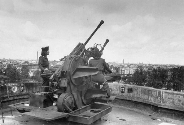 german anti-aircraft guns building flak tower