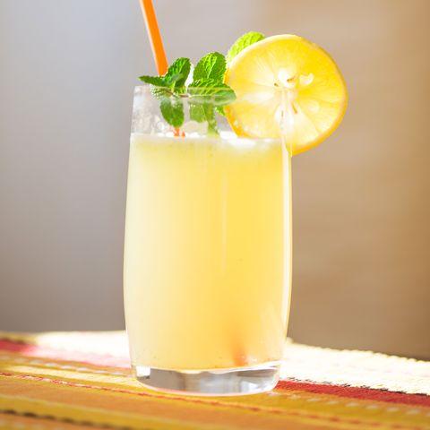 Drink, Juice, Cocktail garnish, Non-alcoholic beverage, Food, Batida, Rum swizzle, Fuzzy navel, Lemonade, Smoothie,
