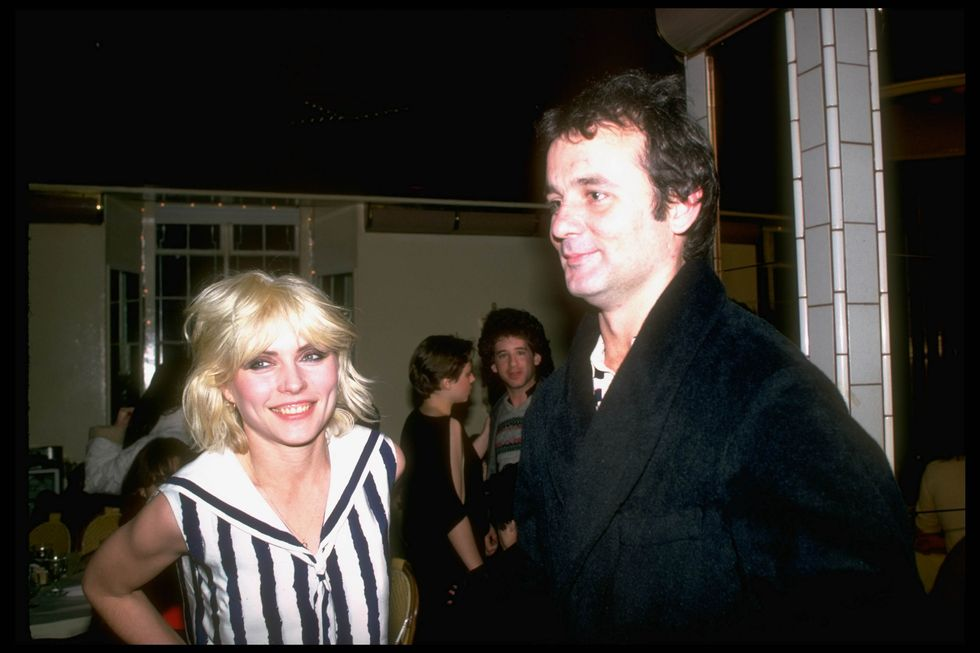 Actor Bill Murray with singer Debbie Harry in 1979.