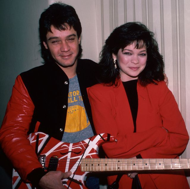 musician eddie van halen and wife, actress valerie bertinelli  photo by ann clifforddmithe life picture collection via getty images