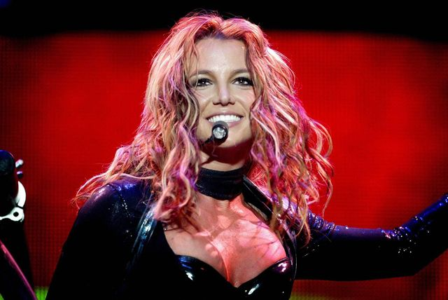 rotterdam, netherlands  us singer britney spears performs in rotterdam, 07 may 2004 during her sole concert in the netherlands for her the onyx hotel tour spears 2004 european tour includes a series of concerts across europe between 30 april and 05 june 2004   afpcontinental  photo credit should read  afp via getty images