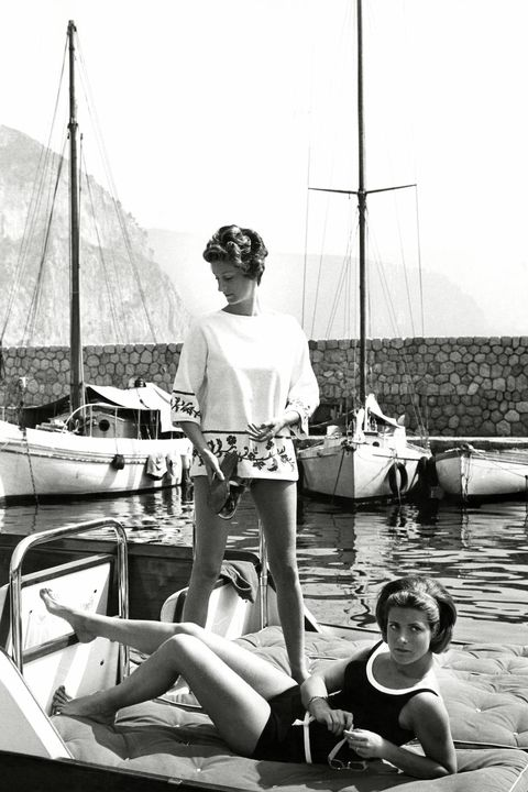 Mrs. Gianni Agnelli and Princess Pignatelli