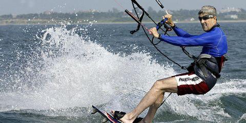 John Kerry Kitesurfing