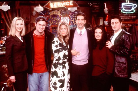 friends special episode, the one that could have been, part one from l r lisa kudrow, matthew perry, jennifer aniston, david schwimmer, courteney cox arquette and matt leblanc all the friends ponder what might have been if each had taken a different path in life and they imagine that a frustrated ross schwimmer stays with his wife carol jane sibbett and ignores her disinterest in him a married rachel aniston is starstruck when she meets hunky days of our lives star joey leblanc who never lost his job as dr drake ramoray phoebe lisa kudrow is a corporate stockbroker and a portly monica cox arquette frets about losing her virginity while chandler perry is a struggling writer who stoops to working as joeys lowly assistant just to make ends meet  photo by getty images