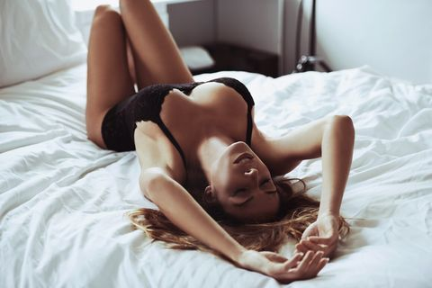 Beauty, Leg, Model, Photography, Photo shoot, Lingerie, Bed, Human leg, Long hair, Furniture,