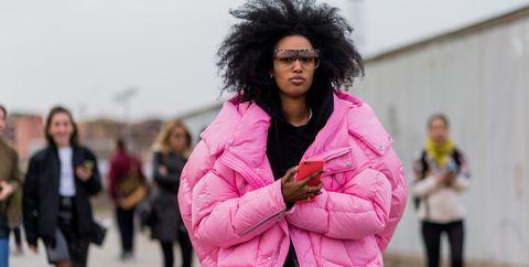 Street Style Fall Coats Puffer Jacket Julia Sarr Jamois