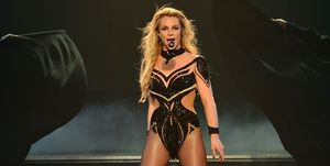Britney Spears miming New Year's Rockin Eve performance