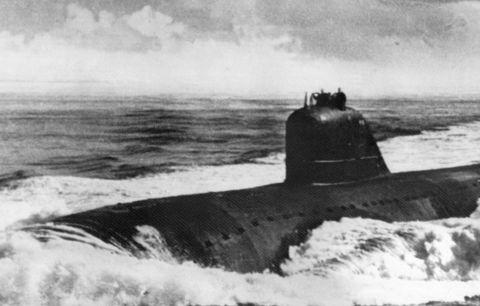 Submarine, Ballistic missile submarine, Vehicle, Cruise missile submarine, Photography, Watercraft,