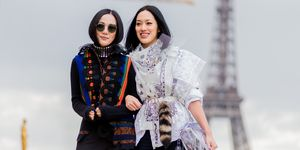 paris fashion week street style - eurostar to paris