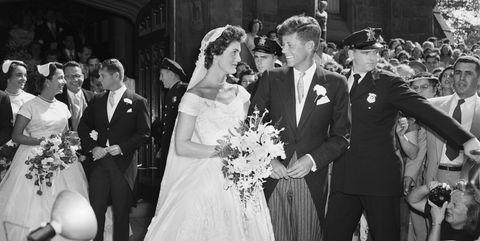 jackie and JFK wedding day