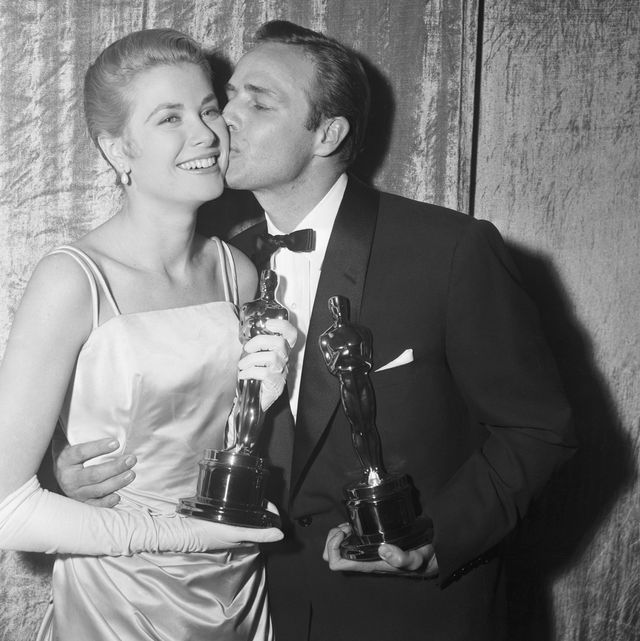 Oscar Winners Grace Kelly And Brando