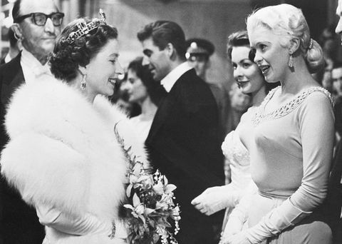 jayne mansfield meeting queen elizabeth
