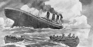 titanic sinking drawing