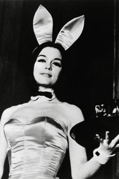 Gloria Steinem Wearing Playboy Bunny Costume