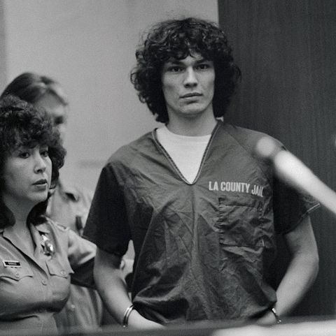 original caption night stalker suspect richard ramirez stands in court during his arraignment for 14 counts of murder and 31 other felonies he pleaded innocent to the charges