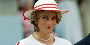 Princess Diana Wearing a Hat