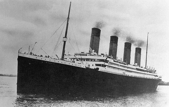 the white star line passenger liner rms titanic embarking on its ill fated maiden voyage
