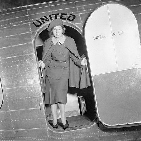 first female airline stewardess