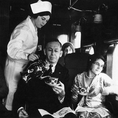 first flight attendant